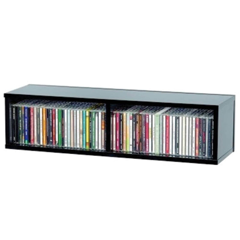 Glorious 218262 Cd Storage Box Holds 90 Cds Black - PSSL ProSound and Stage Lighting