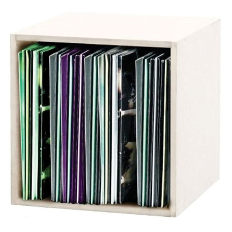 Glorious 219101 Lp Record Box Holds 110 Lps White - ProSound and Stage Lighting