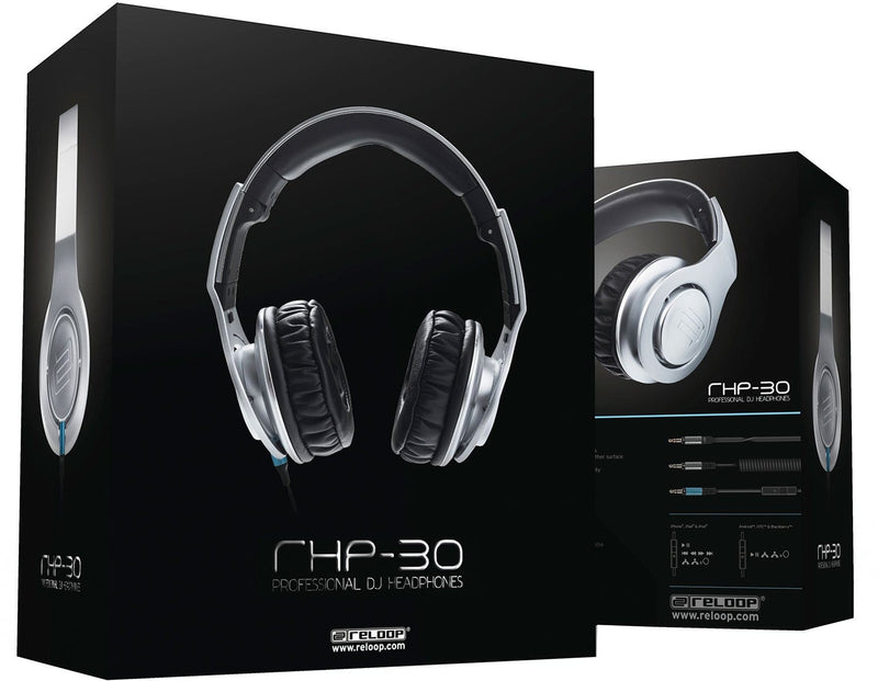Reloop RHP-30 Closed Back DJ Headphones Silver - PSSL ProSound and Stage Lighting