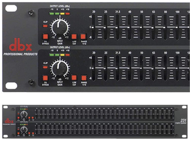 DBX 231 Dual 31 Band 1/3 Octave EQ with XLR & TRS - ProSound and Stage Lighting