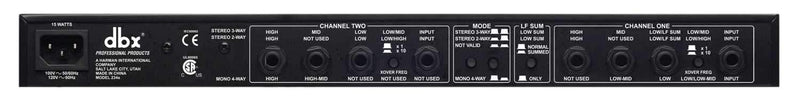 DBX 234S Stereo 2/3 Way, Mono 4-Way Crossover - ProSound and Stage Lighting