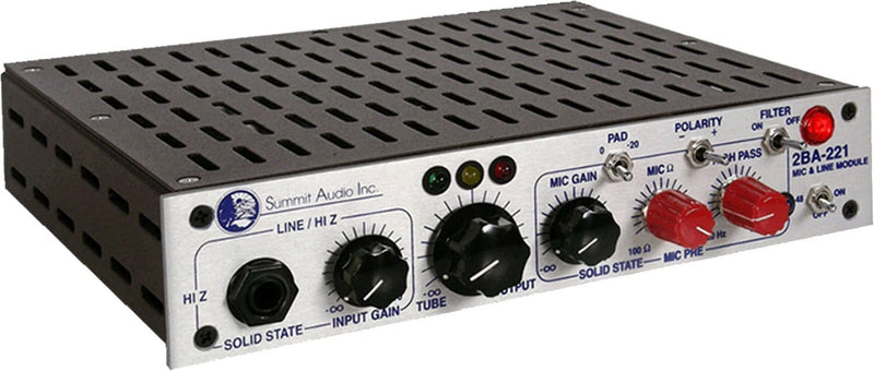 Summit Audio 2BA-221 Mic & Line Preamp - PSSL ProSound and Stage Lighting