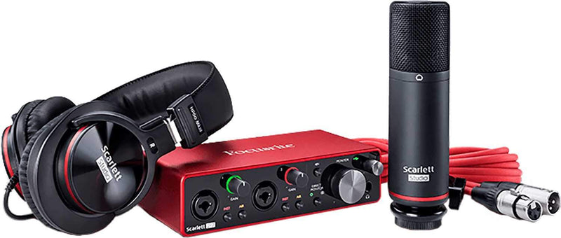 Focusrite Scarlett 2i2 Studio 3G Interface Recording Pack - ProSound and Stage Lighting