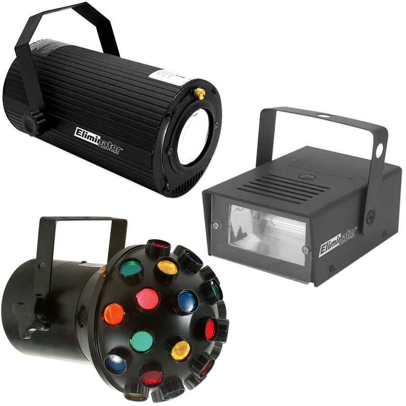 Eliminator 3-PAK Lighting Special Effect System - PSSL ProSound and Stage Lighting