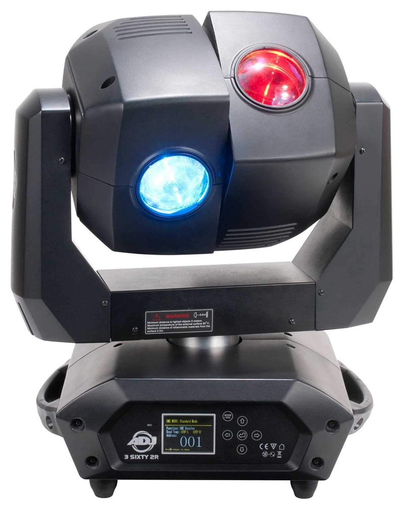 ADJ American DJ 3 Sixty 2R Dual Moving Head Light - ProSound and Stage Lighting