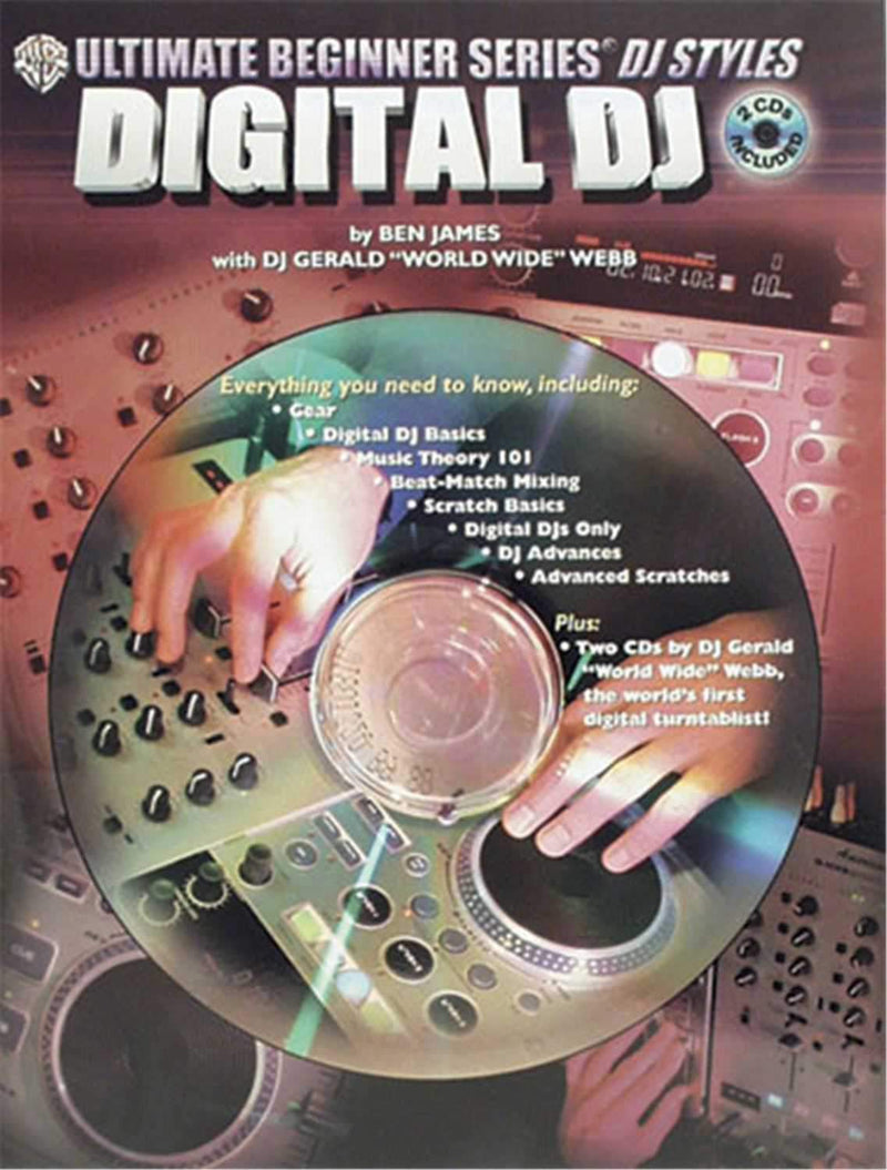 Alfred Publihsing 3341 Digital DJ with 2 CD'S - Book - PSSL ProSound and Stage Lighting