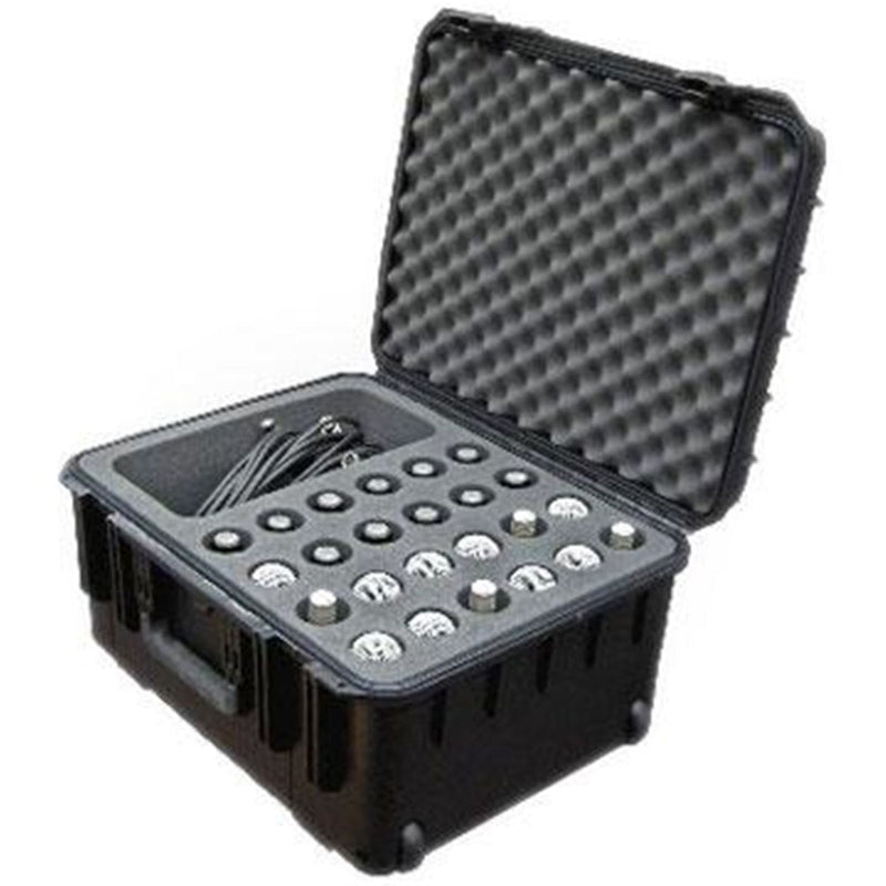 SKB 3I2015MC24 Waterproof Mic Case with Wheels-24 Mic - PSSL ProSound and Stage Lighting