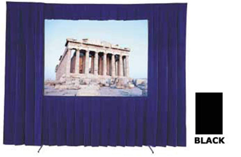Dalite Black Skirt For 10 1/2 X 14 Ft Screen - PSSL ProSound and Stage Lighting