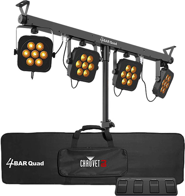 Chauvet 4BAR Quad DMX RGBA LED Wash Light System - PSSL ProSound and Stage Lighting
