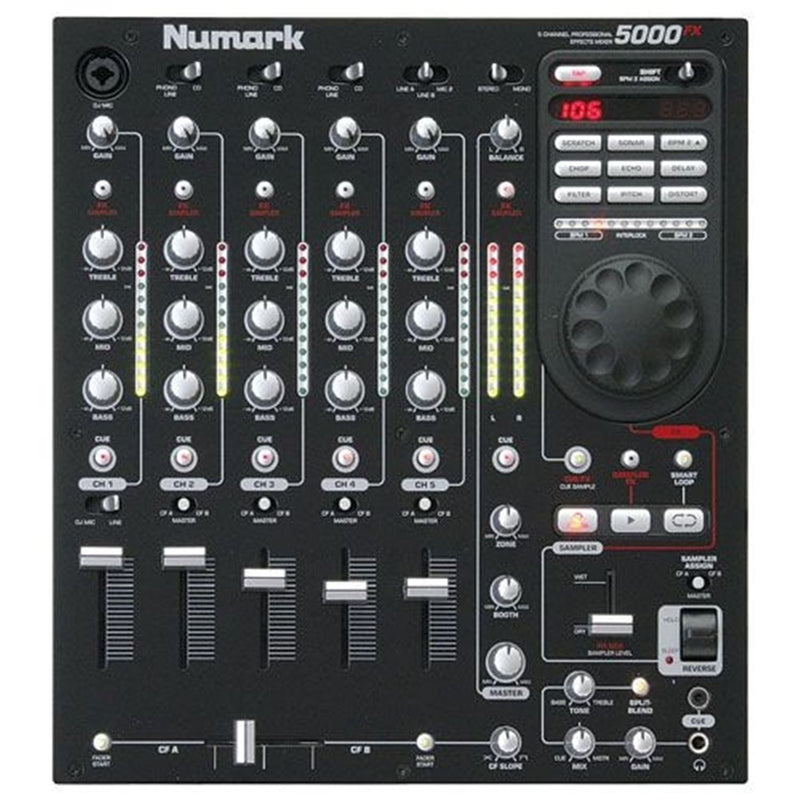 Numark 5000FX 5-Channel DJ Mixer with FX & Sampling - PSSL ProSound and Stage Lighting