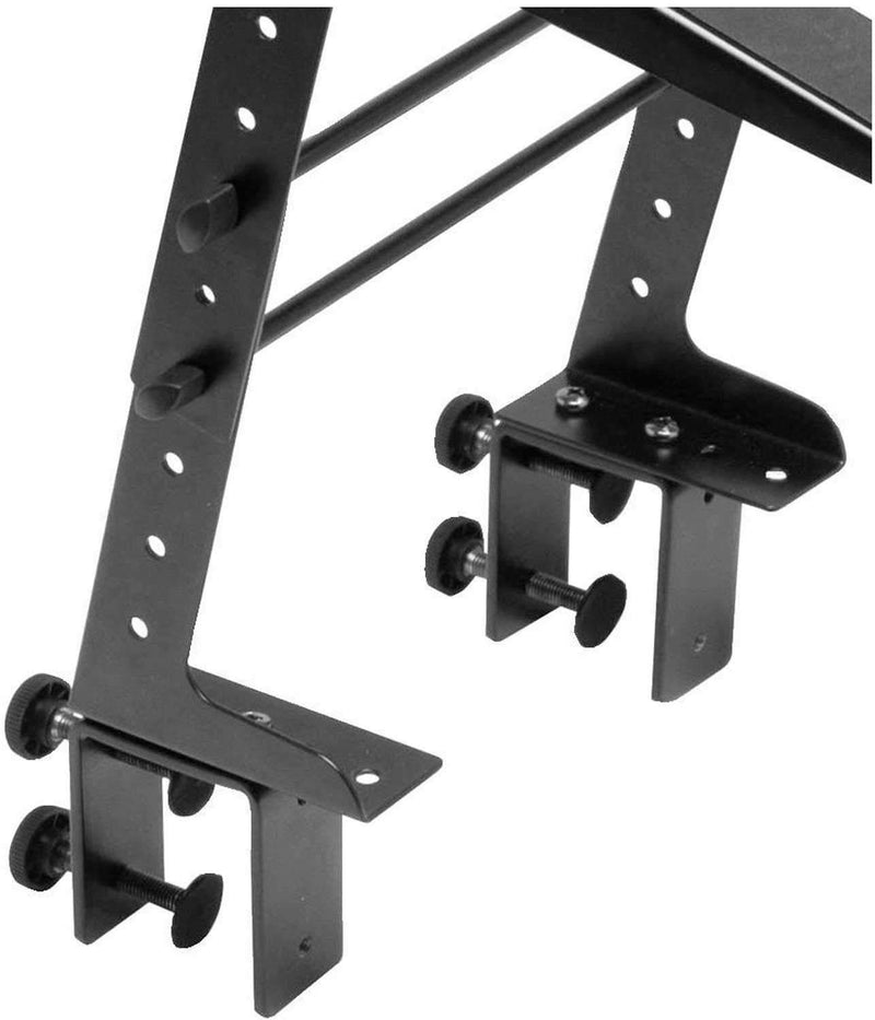On-Stage LPT6000 DJ Laptop Stand with Clamp & Tray - PSSL ProSound and Stage Lighting