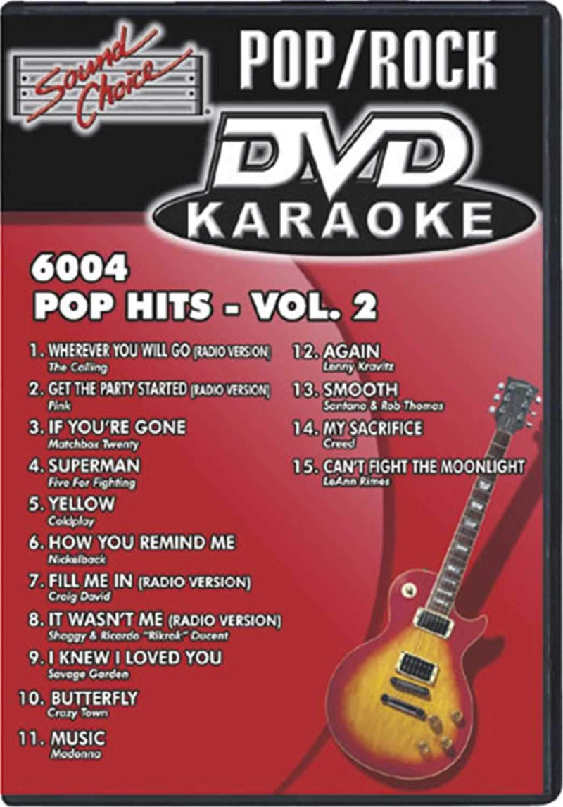 Sound Choice Pop Hits Dvd Karaoke - Vol 2 - PSSL ProSound and Stage Lighting