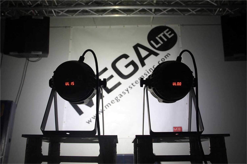 Mega Lite Uni Color DMX Cool White LED Wash Light - ProSound and Stage Lighting