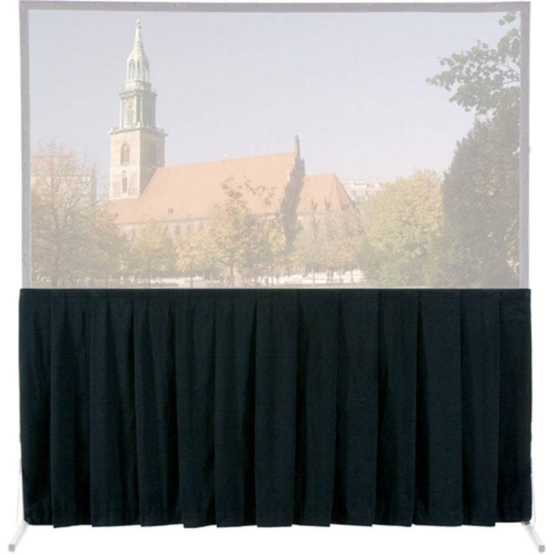 Da-Lite 81025 Black Bottom Skirt Drape for 10 Ft x 13 Ft Fast-Fold Screen - ProSound and Stage Lighting