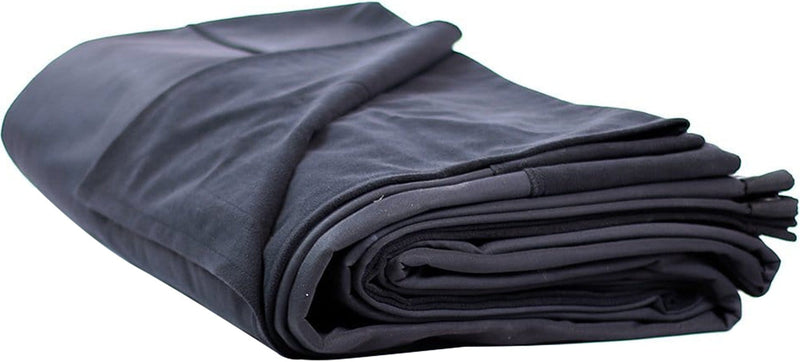 Solotech 16 oz Black Milano Velour 40 x 15 Drape - ProSound and Stage Lighting