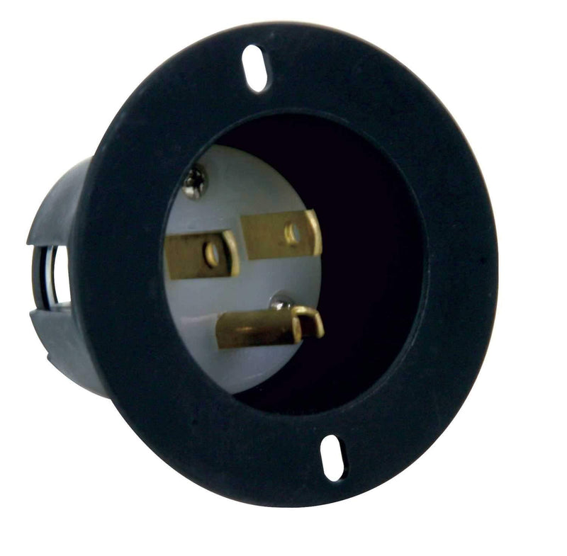 AC Recessed Mountable Male AC Plug Recessed Power Inlet - PSSL ProSound and Stage Lighting