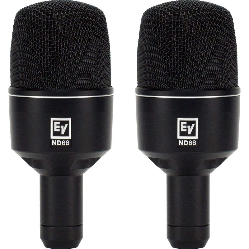 Electro-Voice ND68 Supercardioid Kick Drum Mic 2-Pack - PSSL ProSound and Stage Lighting