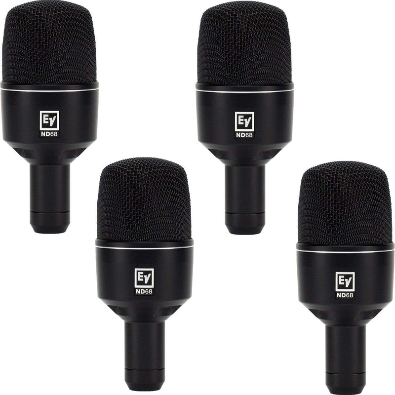 Electro-Voice ND68 Supercardioid Kick Drum Mic 4-Pack - PSSL ProSound and Stage Lighting