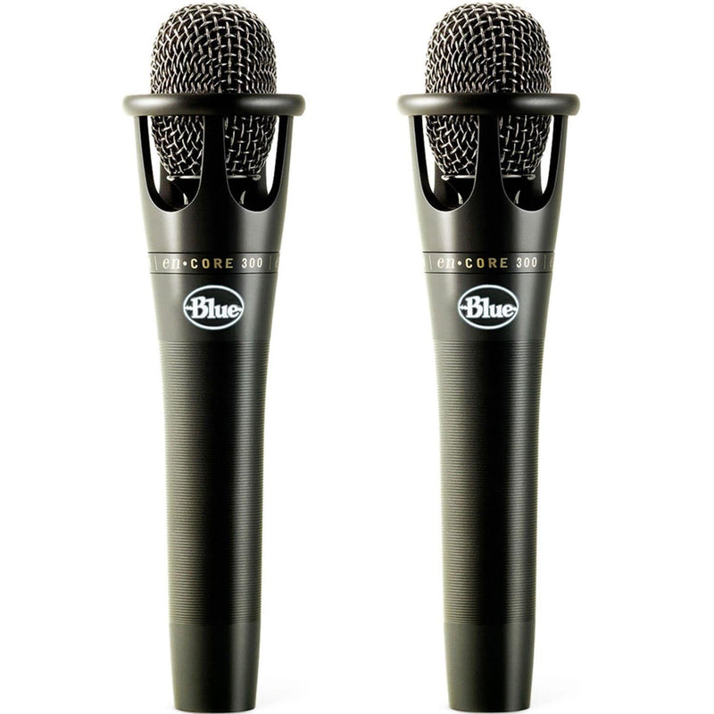Blue enCore 300 Black Vocal Condenser Microphone 2-Pack - PSSL ProSound and Stage Lighting