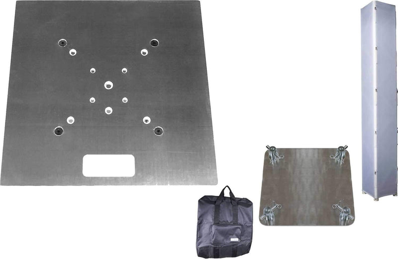 Global Truss 20x20A & 12x12 Base Plates plus F34 Truss Cover with Carry Bag - PSSL ProSound and Stage Lighting