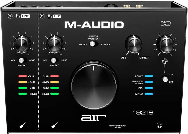 M-Audio AIR 192x8 2-In And 4-Out Audio MIDI Interface - PSSL ProSound and Stage Lighting