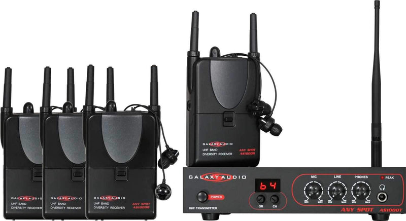 Galaxy AS-ALS-4 Band Pack Wireless System - PSSL ProSound and Stage Lighting