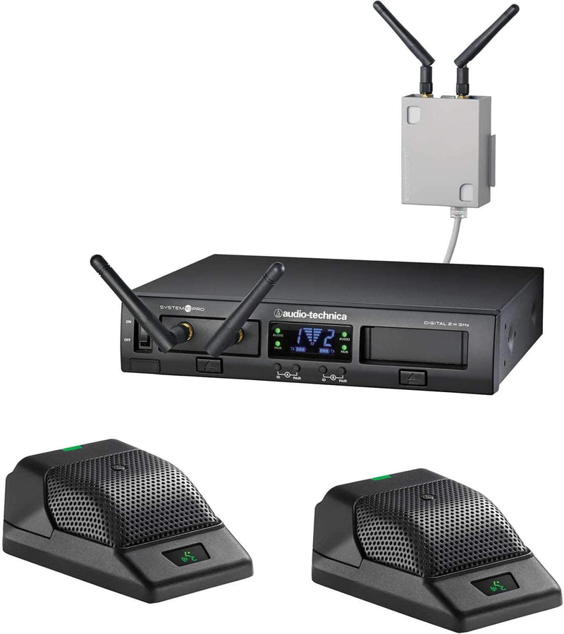 Audio Technica ATW-1366 System 10 PRO Dual Wireless Boundary Mic System - PSSL ProSound and Stage Lighting