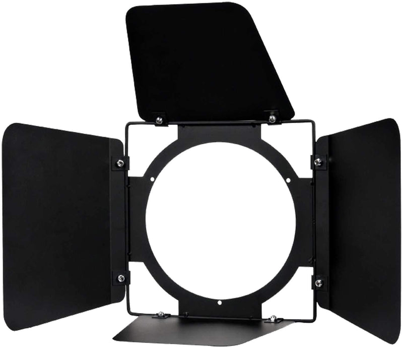 ADJ American DJ Black Metal Barn Doors for COB Cannon Wash - PSSL ProSound and Stage Lighting