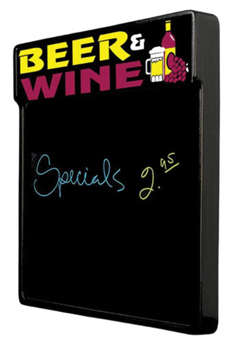 Tecart BEERANDWINE 20 X 25 Write On Board Sign - ProSound and Stage Lighting