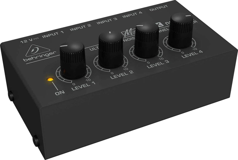 Behringer MX400 Ultra Low-Noise 4 Ch Line Mixer - PSSL ProSound and Stage Lighting