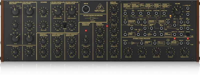 Behringer K-2 Analog & Semi-Modular Synthesizer - PSSL ProSound and Stage Lighting