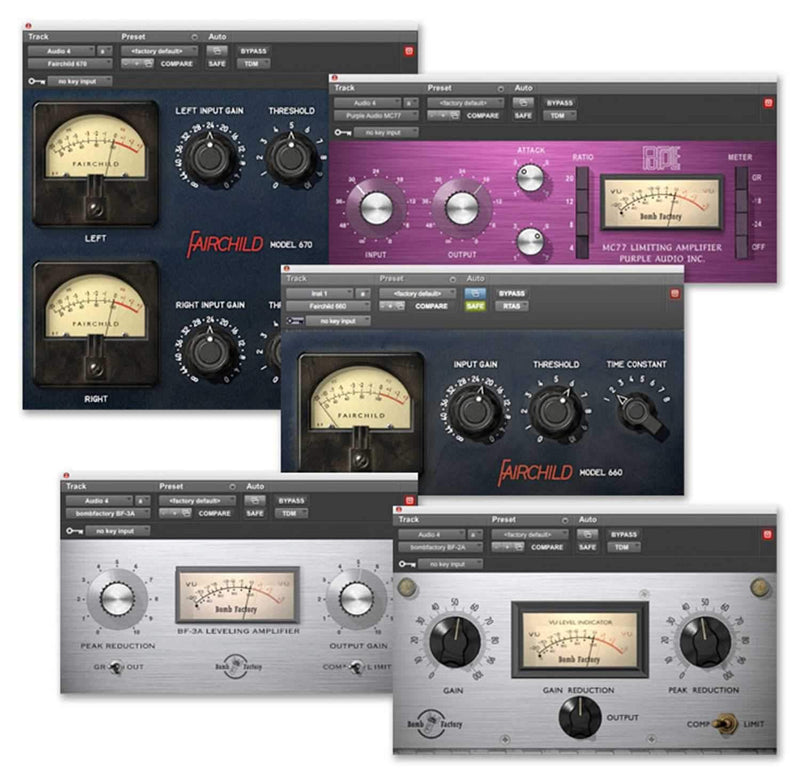Avid Bomb Factory Classic Compressors Bundle - ProSound and Stage Lighting