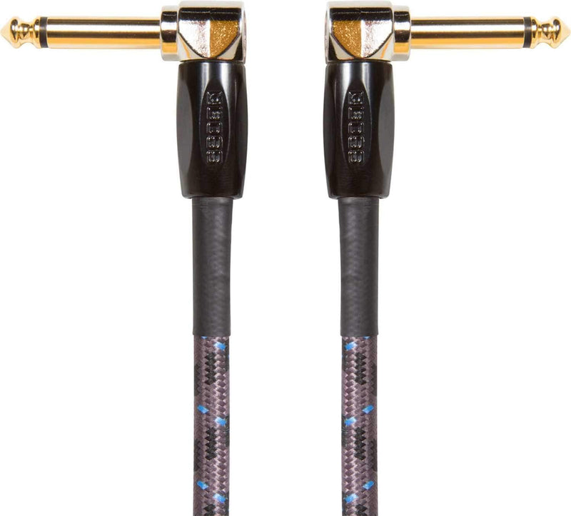 Boss BIC-1AA 1-Foot Instrument Cable Angled 1/4-Inch - PSSL ProSound and Stage Lighting
