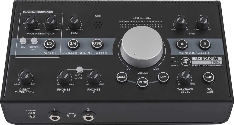 Mackie Big Knob Studio Monitor Controller & Audio Interface - ProSound and Stage Lighting