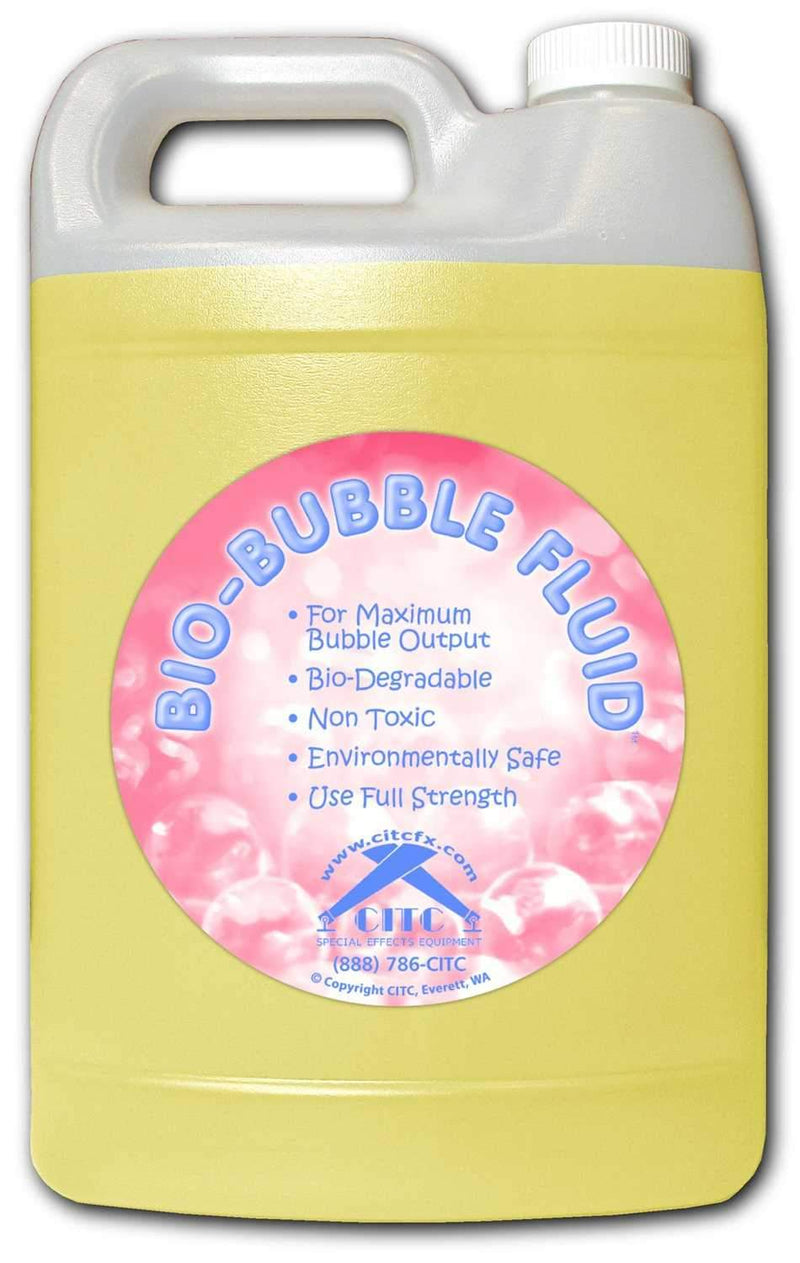 CITC Bio-Bubble Fluid for Thicker Bubbles 1 Gal - ProSound and Stage Lighting