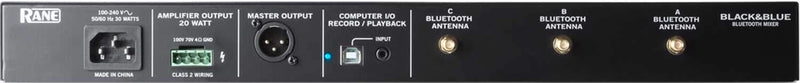 RANE Black & Blue Rackmount Bluetooth Mixer & Amp - PSSL ProSound and Stage Lighting