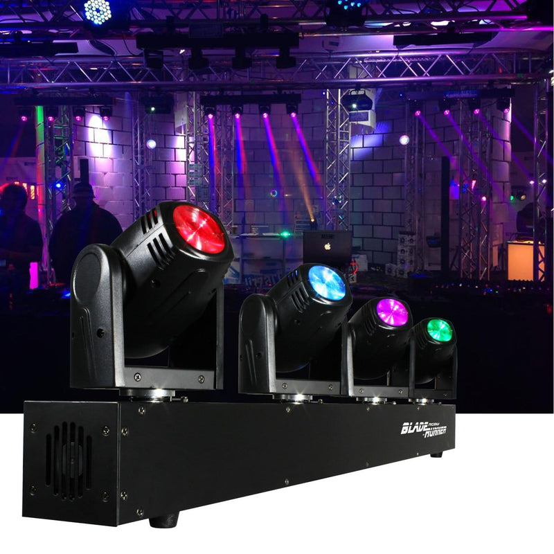 Blizzard BladeRunner RGBW 4x Moving Head LED Light - PSSL ProSound and Stage Lighting