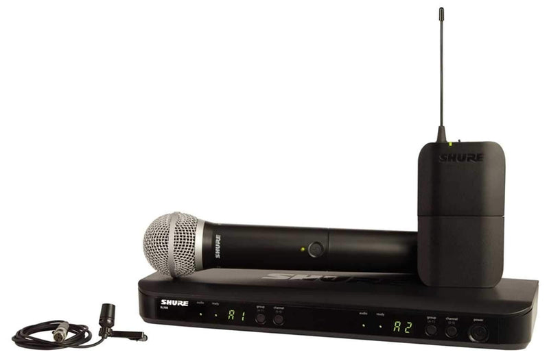 Shure BLX1288/CVL Combo Wireless Handheld Lav H10 - PSSL ProSound and Stage Lighting