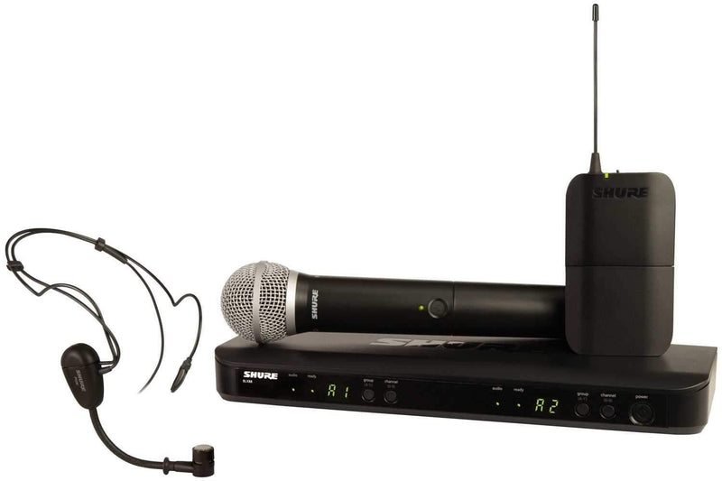 Shure BLX1288PG30 Dual Wireless Hdst/Hand Combo - PSSL ProSound and Stage Lighting