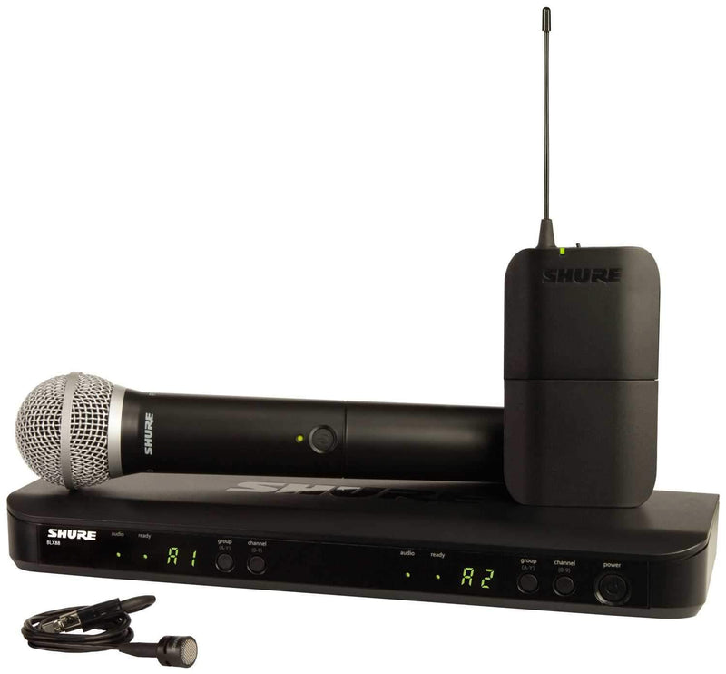 Shure BLX1288PG85 Wireless Combo Lav/Handheld Sys - PSSL ProSound and Stage Lighting