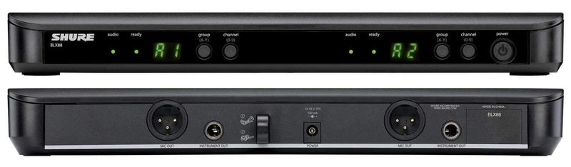 Shure BLX1288/P31 Dual Channel Wireless Microphone with PG58 - PSSL ProSound and Stage Lighting
