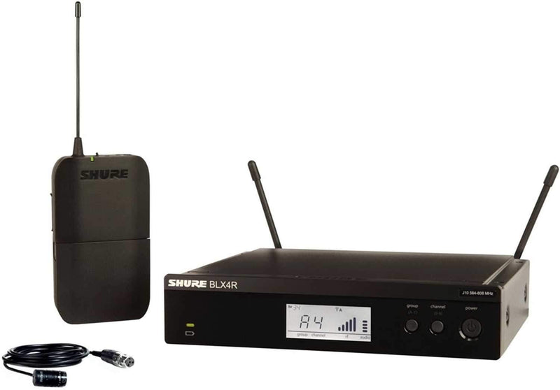 Shure BLX14 Rack Wireless Lavalier Mic w WL185 H9 - PSSL ProSound and Stage Lighting