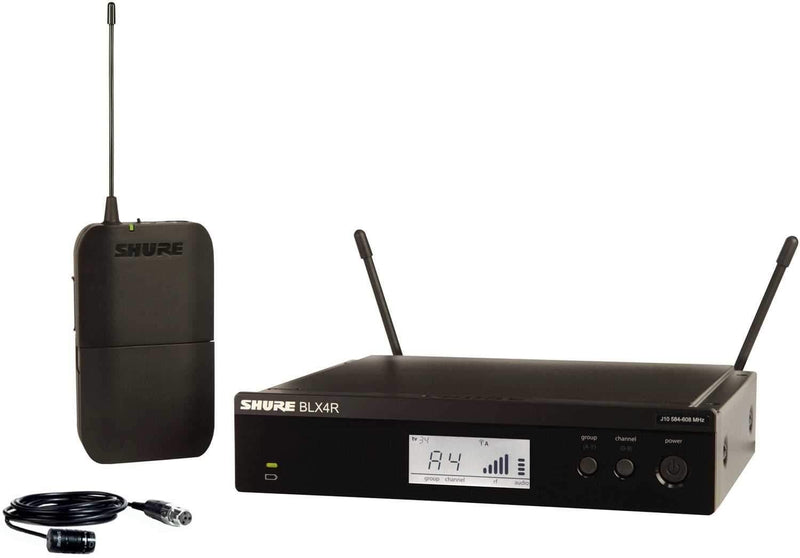Shure BLX14R/W85 Rack Wireless Lavalier System with WL185 - PSSL ProSound and Stage Lighting