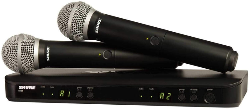 Shure BLX288/PG58 Dual Wireless Mic System H10 - PSSL ProSound and Stage Lighting