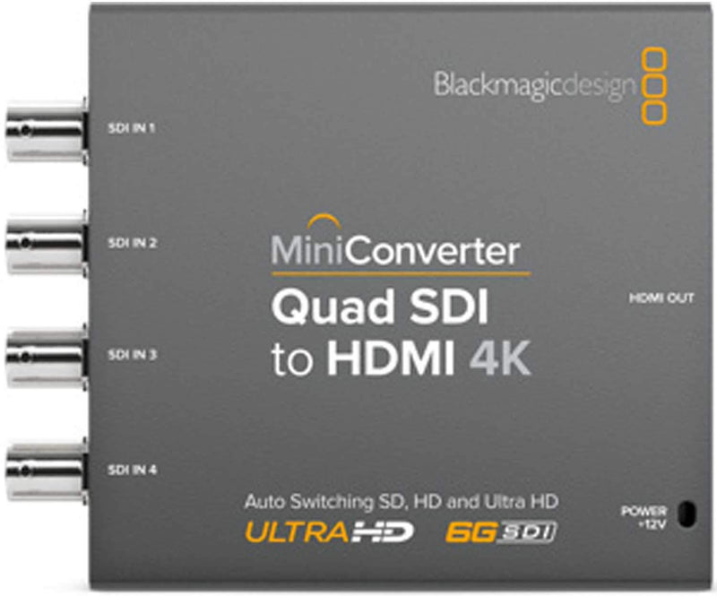 Blackmagic Design Mini Converter Quad SDI to HDMI - PSSL ProSound and Stage Lighting