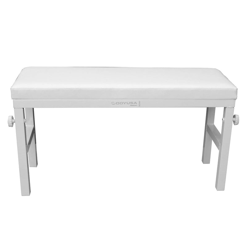 Odyssey BNCHWHT 40in Portable Luxe Bench White - PSSL ProSound and Stage Lighting