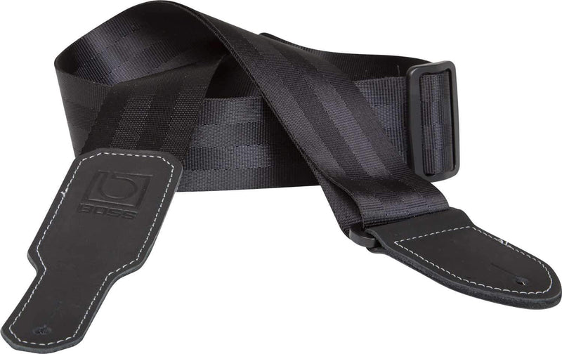 Boss BSB-20-BLK 2 inch Black Seatbelt Guitar Strap - ProSound and Stage Lighting