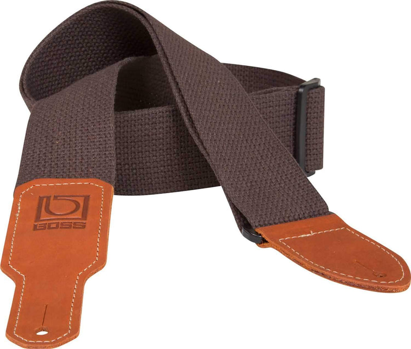 Boss BSC-20-BRN 2 inch Brown Cotton Guitar Strap - ProSound and Stage Lighting