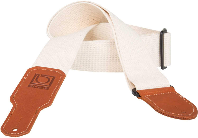 Boss BSC-20-NAT 2 inch Natural cotton Guitar Strap - PSSL ProSound and Stage Lighting