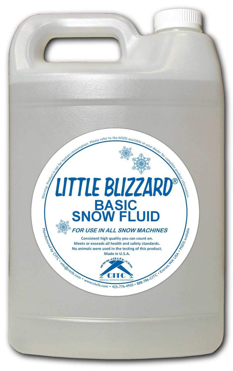 CITC Little Blizzard Basic Snow Fluid 1 Gallon - PSSL ProSound and Stage Lighting